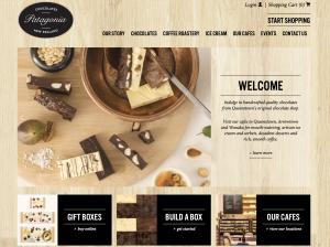 クイーンズタウンにある有名なホットチョコレートのお店のweb画面