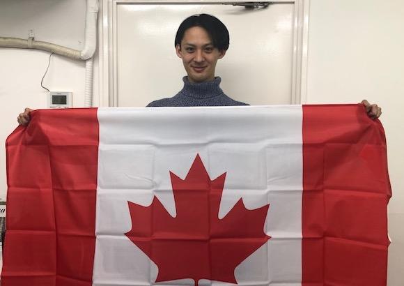 カナダ留学するYutaroさん