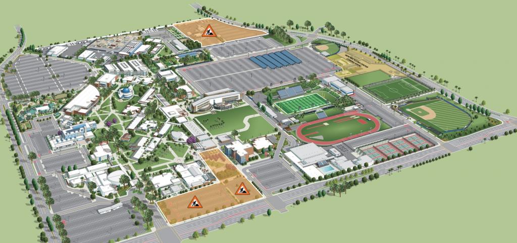 オレンジコーストカレッジキャンパスマップ