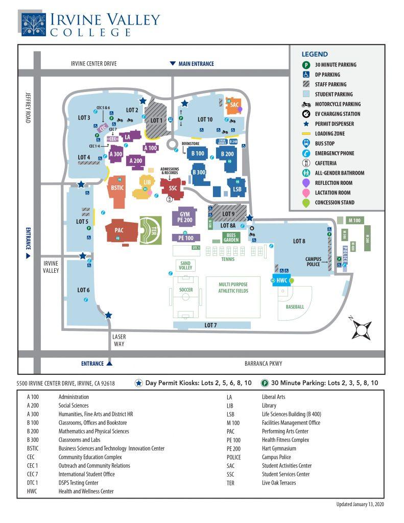 アーバインバレーカレッジ キャンパスマップ
