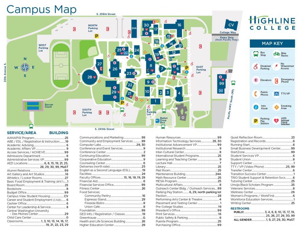 Highline-College-Campus-Maps
