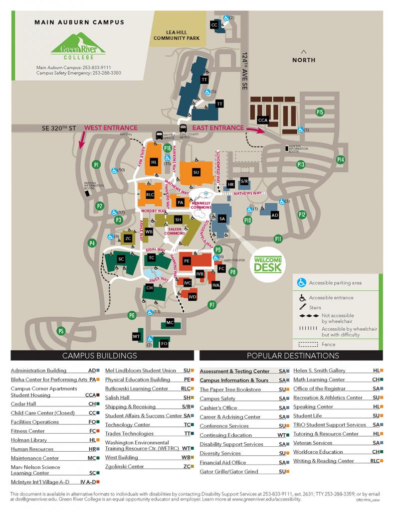 グリーンリバーカレッジキャンプパスマップ