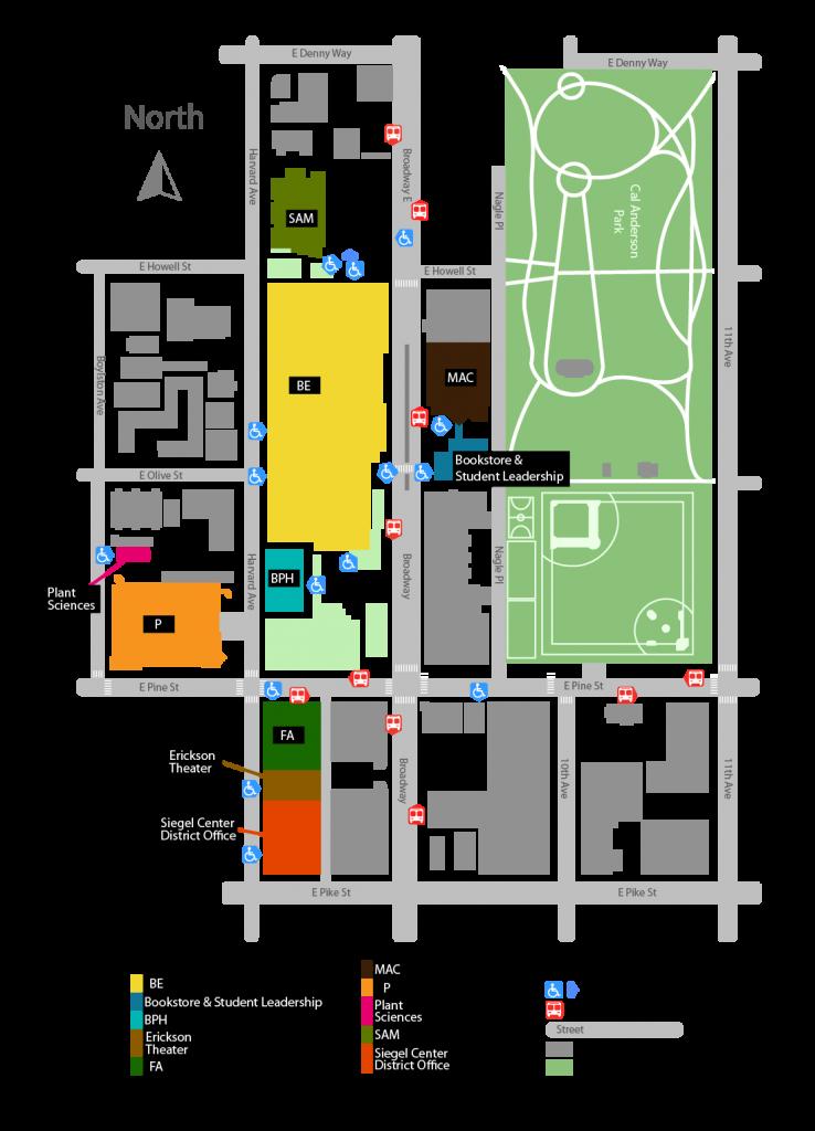 シアトルセントラルカレッジキャンパスマップ